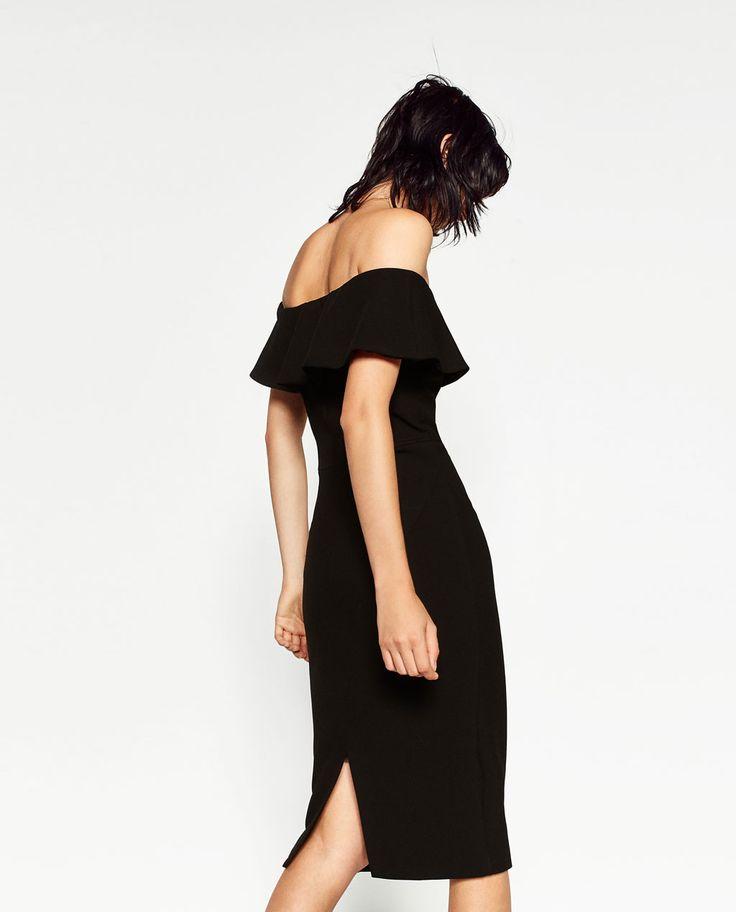 ZARA - WOMAN - OFF-THE-SHOULDER DRESS