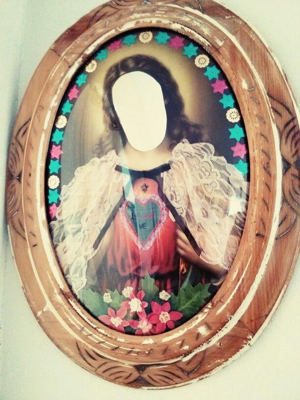 San Yo. Espejo decorado. 48X62cm