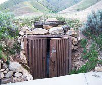 root cellar or bomb shelter or both/just need a little peep hole so u can see who wanting to come it!