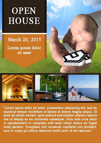 34 best Open House Flyer Ideas images on Pinterest Flyer