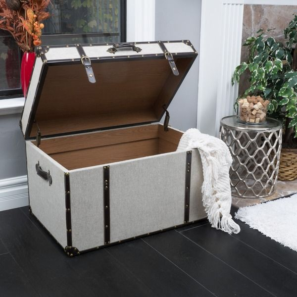 Christopher Knight Home Fontana Upholstered Storage Trunk | Overstock.com Shopping - The Best Deals on Decorative Trunks