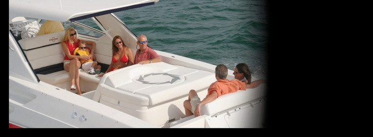 New 2012 Fountain Boats 48 Express Cruiser Express Fisherman Boat - Enjoying being on the water.
