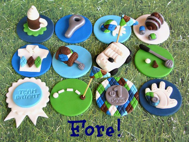 Golf Cupcake Toppers by Lynlee's Petite Cakes, via Flickr