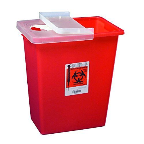 Manufacturer # 8980 Manufacturer Covidien Application Multi-purpose Sharps Container Color Red Base Dimensions 17.5H X 15.5W X 11D Inch Lid Type Hinged Lid Locking Type Locking Lid Material Plastic Placement Point-Of-Use Sterility NonSterile Style 1-Piece UNSPSC Code 42142531 Volume 8... more info at https://www.borderlessinternational.com/diabetes-care/sharps-containers/product-review-for-kendallcovidien-model8980-multipurpose-sharps-container-whinged-lid-8-gallon-case/