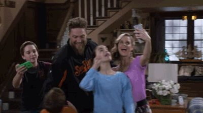 Pin for Later: GIFs That Show Soni Nicole Bringas Might Be the Best Thing About Fuller House When She Was a Total Fangirl Selfies with San Francisco Giants player Hunter Pence.