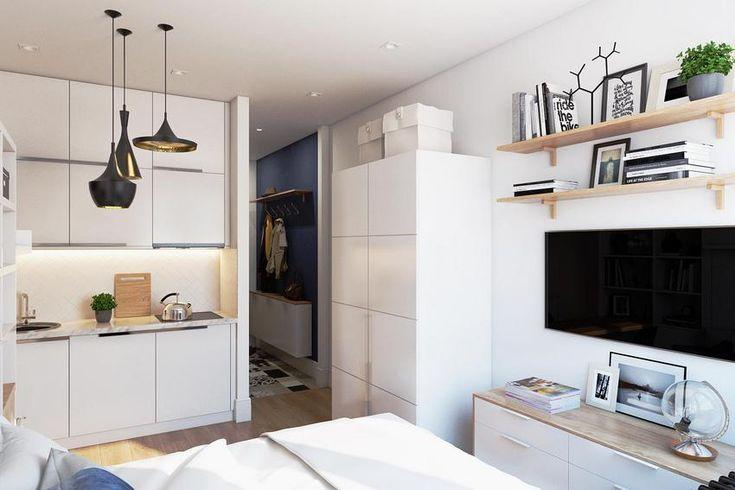 Lakberendezés - Leválasztott 19m2-ből önálló kis lakás modern stílusban, praktikusan