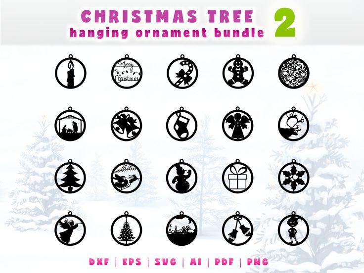 http://etsy.me/2ABMixz      Christmas ornaments set. Christmas tree hanging ornament vector kit. Christmas vector file SVG. Paper cut ornaments. Laser Cut Ornaments.  #supplies #housewarming #christmas #jewelrymaking #plasmacutfile #christmasdecor #christmasgiftdiy #laserfiledxf