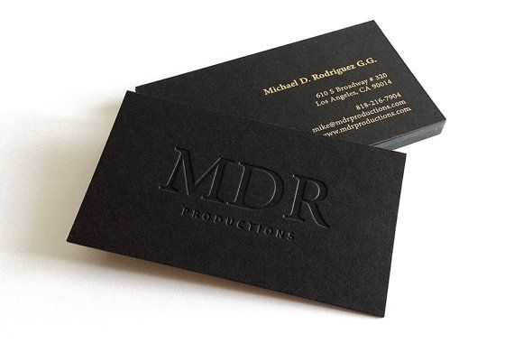 The 10 best business cards images on pinterest business cards black business cards 700gsm 1 foil color with blind impression colourmoves