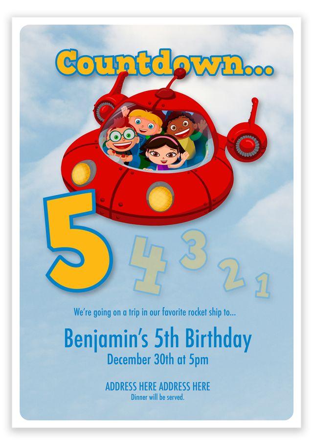 Little Einstein's Birthday Party Invitation | hellodesignlove.com.            Highlight the 2 instead.