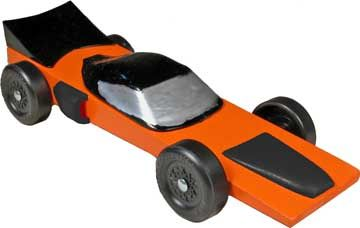 Orange Falcon Pinewood Derby Car Kit