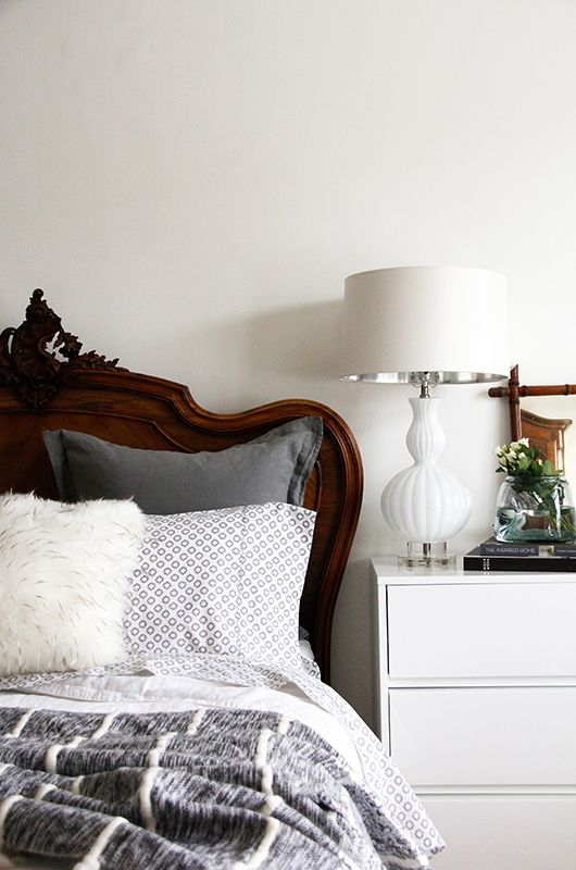 Best A Perfectly Layered Bed Anthropologie Home Pinterest Grey Dark Wood And White Furniture 640 x 480