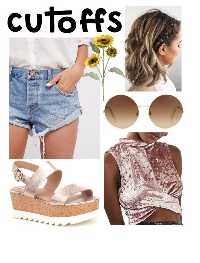"""Summer Cutoffs🌻"" by gagirl42 ❤ liked on Polyvore featuring Free People, Steve Madden, Topshop, Victoria Beckham and Pier 1 Imports"