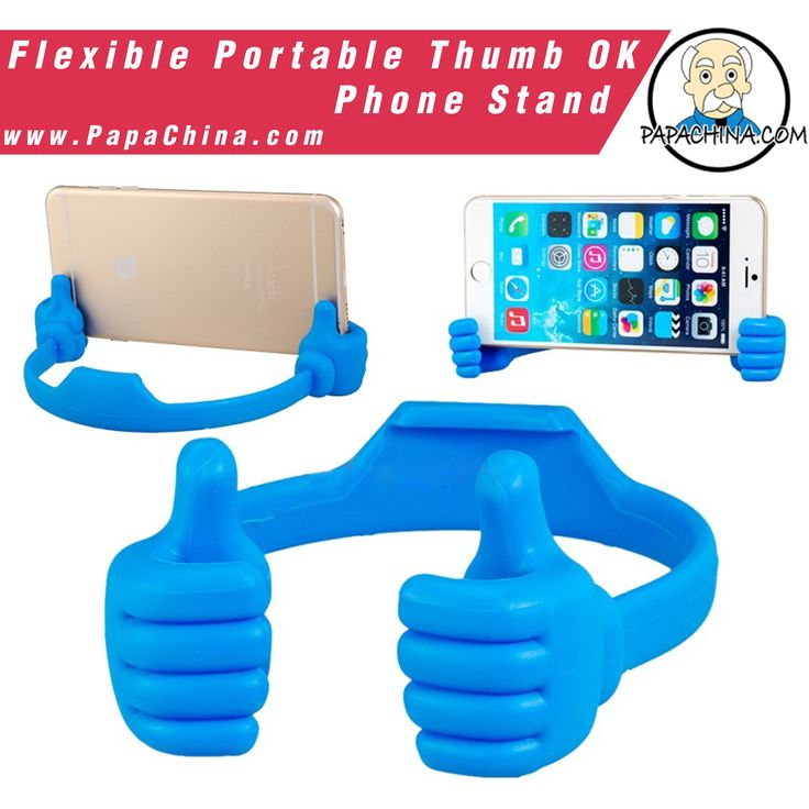 Quality items like a Flexible Portable Thumb OK Phone Stand will send your company's message loudly. Able to be used for holding phone, your clients will use the item and the more they do, the more times your message is heard.