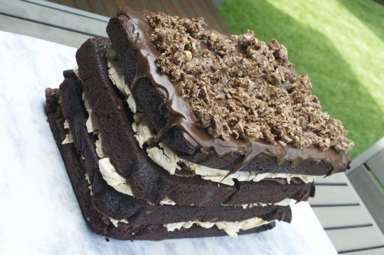 Phoodie's CHOCOLATE 'LASAGNE' - Double Chocolate Chunk Fudge Brow...