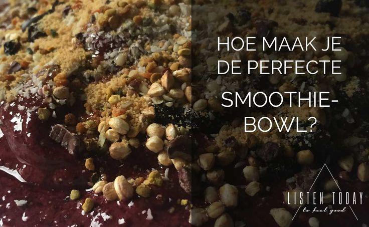 Een smoothie-bowl is het perfecte begin van de dag. Het lijkt alsof je een ijsje eet, maar stiekem krijg je je dagelijkse hoeveelheid groenten en fruit al binnen in één maaltijd! Bekijk hoe je de beste bowl maakt op de blog van Listen Today (online platform voor yoga, meditatie en gezond eten).