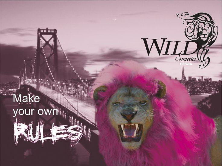 Ejemplo de diseño para cartelería: WILD cosmetics