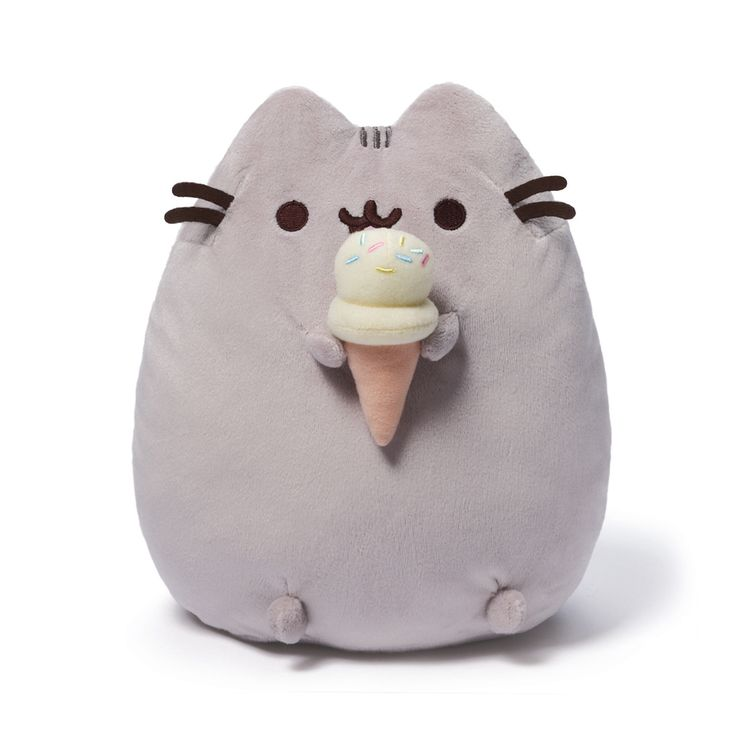 "Pusheen brings brightness and chuckles to millions of followers in her rapidly growing online fan base. This 9.5"" upright plush version of Pusheen satisfies her sweet tooth with a tasty-looking ice-cr                                                                                                                                                                                 More"
