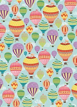 Hot Air Balloons Wrapping Paper