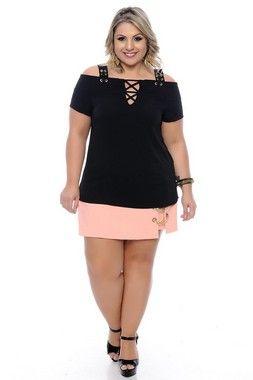 31b4ad3c57 Vestido Linho Plus Size Zorah. Macaquinho Plus Size Nathalia - Daluz Plus  Size