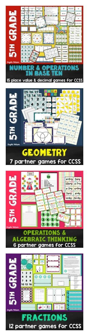 5th grade math games for every Common Core domain--everything you need for kids to practice math skills in a rigorous but FUN way!