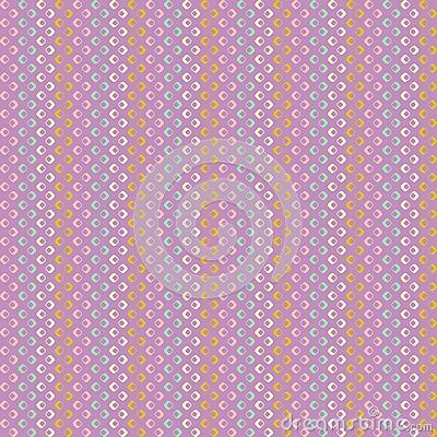 Vector pattern with stripes and squares purple background