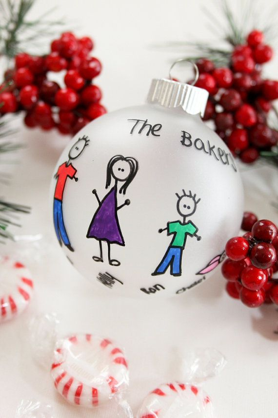 Personalized Family Christmas Ornament Up to 6 by BabyGeneration, $10.00