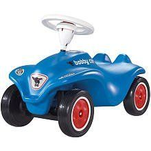 Big Toys Big-56201 Bobby Car in Blue by Big Toys. $114.71. Big Toys Big-56201 Features: -Bobby Car. -Color: Blue. -Made of durable plastic. -Large steering wheel, comfortable seat and smooth wheel motion. -Functional steering makes kids feel like grown-ups. -Extremely resistant to breakage and capable of carrying a load of 220 lbs. -Extensively tested by the German TUV. -European award-winning push-powered vehicle is perfect for children ages one-year and up. -Shipped fully as...