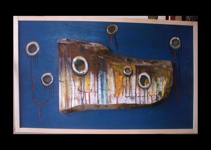 Meine eigene surrealistische Kunst: PIERINO E IL LUPO. Verkauft   Zur Zeit meine Kunst auch auf ebay.de unter:  http://www.ebay.de/sch/i.html?_from=R40&_trksid=p2050601.m570.l1313.TR2.TRC1.A0.H0.XEYF-ART.TRS0&_nkw=EYF-ART&_sacat=0