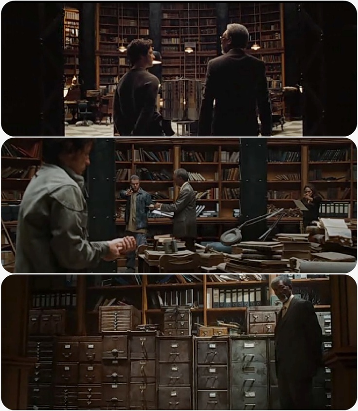 Say what you will about the movie, but I'm absolutely in love with the Library set from Wanted