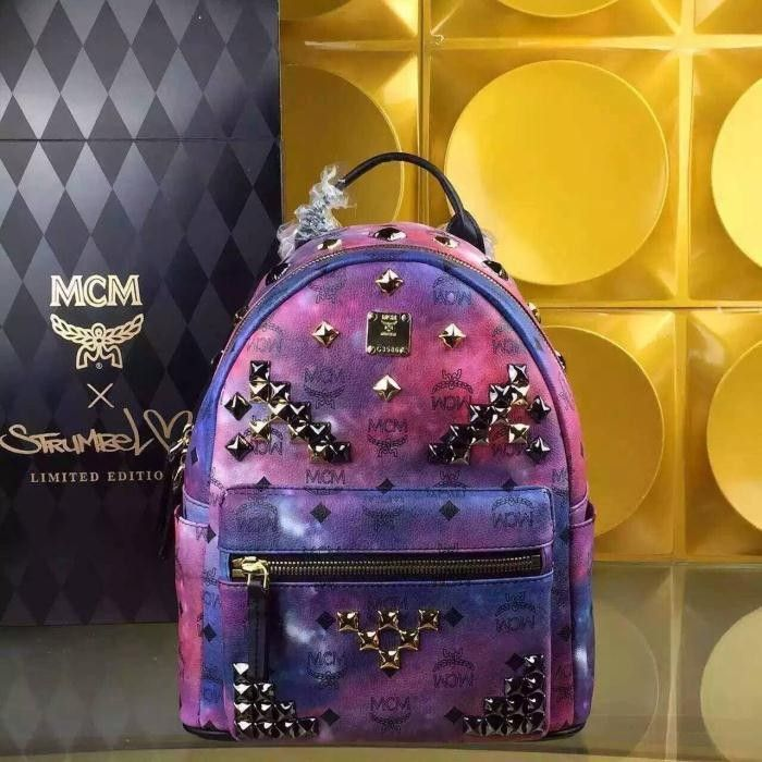 MCM Small Stark M Studded Backpack In Galaxy                                                                                                                                                     More