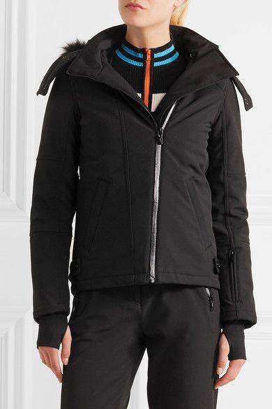 Topshop Sno - Star Faux Fur-trimmed Ski Jacket - Black - UK