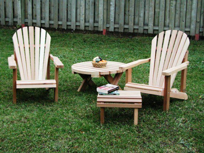 17 meilleures id es propos de fauteuils adirondack sur for Chaise adirondack bois