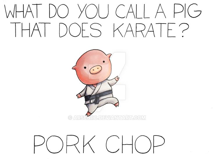 What do you call a pig that does Karate? by arseniic.deviantart.com on @DeviantArt