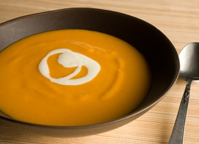 Sweet Potato–Star Anise Soup with Ginger Cream | Recipe