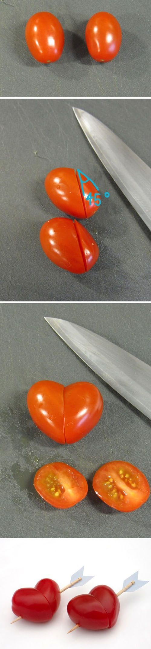 DIY Heart Shaped Cherry Tomatoes