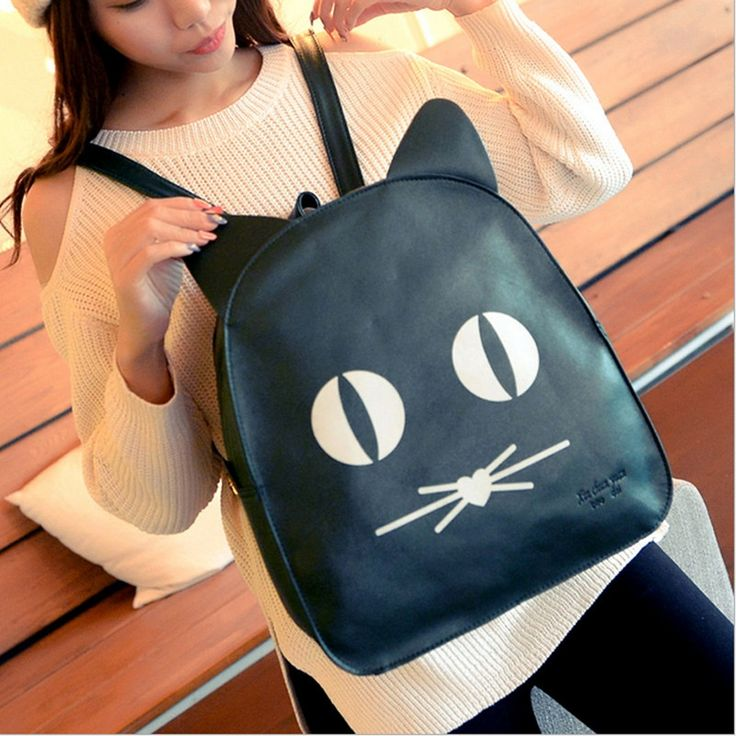 27.90$  Watch here - 2015 Small Leather Backpack Women PU Cute Bag School Girl Black Backpack Mochilas Para Meninas Adolescentes  #SHOPPING