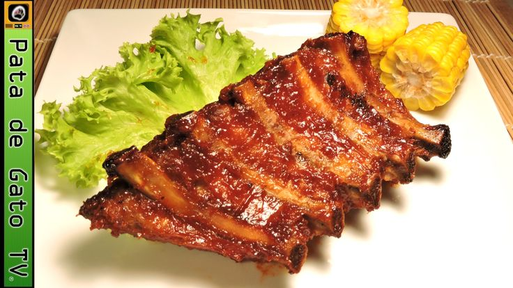 Costillas de cerdo barbecue, paso a paso / BBQ pork ribs, step by step.