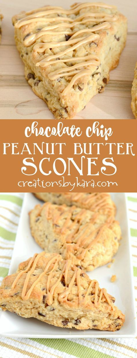 These chocolate chip peanut butter scones are so easy to make, and everyone loves them. A perfect scone recipe for peanut butter lovers!