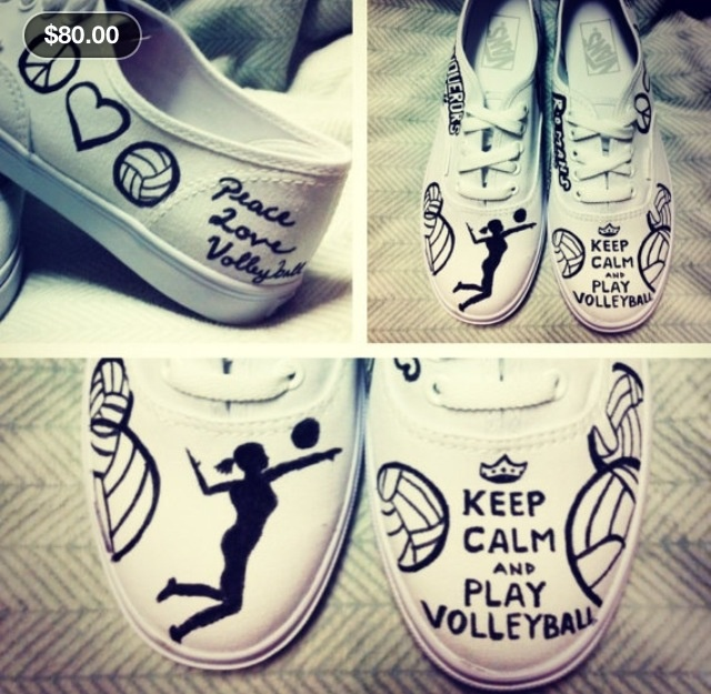 LOOK AT THESE AWESOME VOLLEYBALL SHOES!!! cute