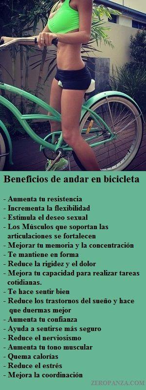 Beneficios de andar en bicicleta zeropanza.com