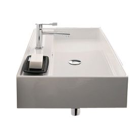 31.5 X 18.1 X 5.7 Sink For Large Bathroom. Nameeks Scarabeo Teorema White  Wall