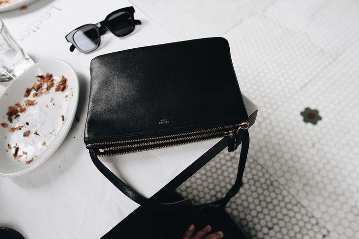 Céline sunglasses & Céline trio bag in Ledlow downtown Los Angeles. | @andwhatelse