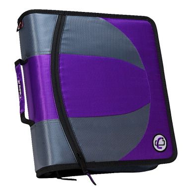 Case It Dual Ring Binder, D Ring, 1-1/2 Inch, Purple - CLASSROOM DIRECT