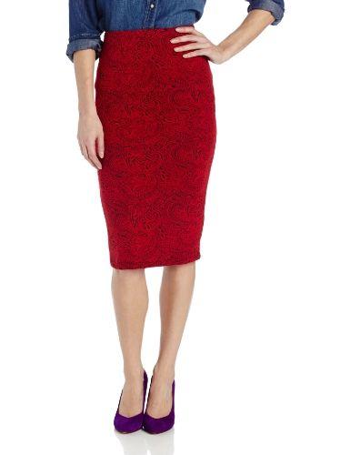 Jack Women's Convoy Paisley Brocade Ponte Skirt, Cardinal Red, Alternate skirt shape for Brocade fabric