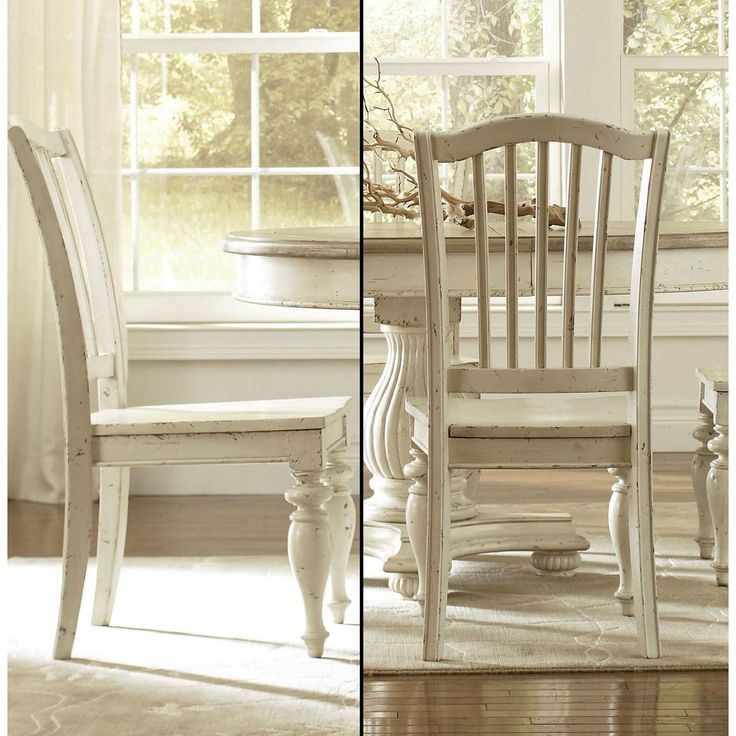 Riverside 36458 Mix N Match Wood Side Chair In Dover White