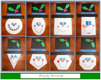 Classroom Freebies: Shapely Snowmen