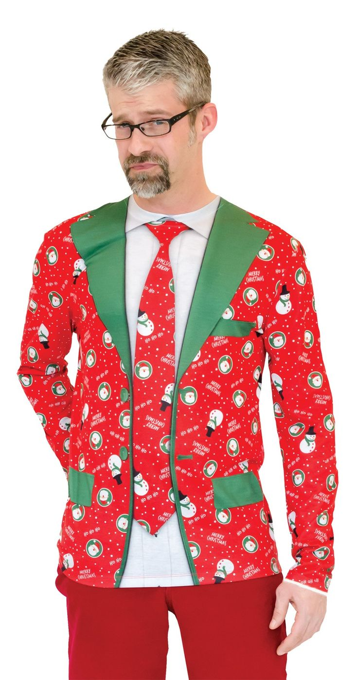 Ugly Christmas Suit Tie T-Shirt Adult