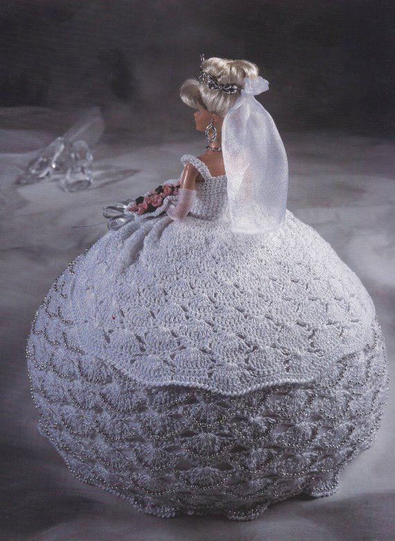 Miss September Bridal Belle Dress for Barbie Doll Crochet Pattern Leaflet
