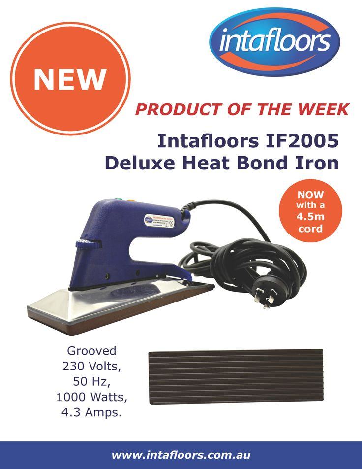 NEW Intafloors IF2005 Deluxe Heat Bond Iron. Now with an extra long cord for ease of use!