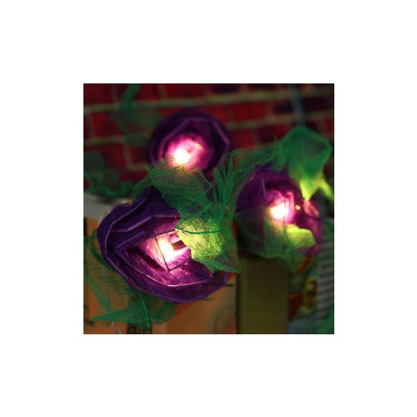 20Pcs LED Rose Flower Fairy String Light Wedding Garden Party Xmas... ($16) ❤ liked on Polyvore featuring home, home decor, holiday decorations, purple, valentines day home decor, outside home decor, holiday christmas window decorations, outdoor holiday decorations and purple home decor